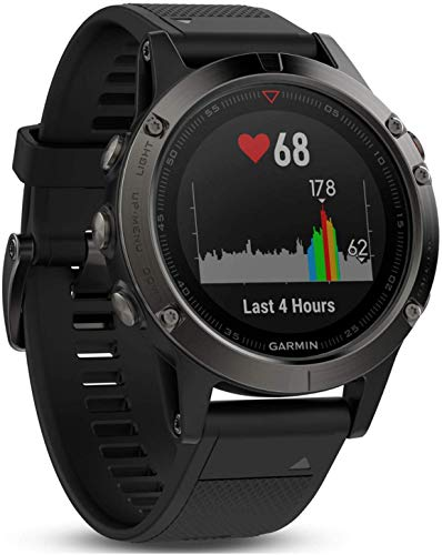 Lowest Prices! Garmin Fenix 5X Sapphire - Slate Gray with Black Band