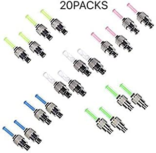 LINKCITY CREATIVE 20 Pack of Led Flash Tyre Wheel Valve Cap Light For Car Bike Bicycle Motorbicycle Wheel Special Light Tire (4 x Red, 4 x Yellow, 4 x Blue, 4 x Green, 4 x Colorful)