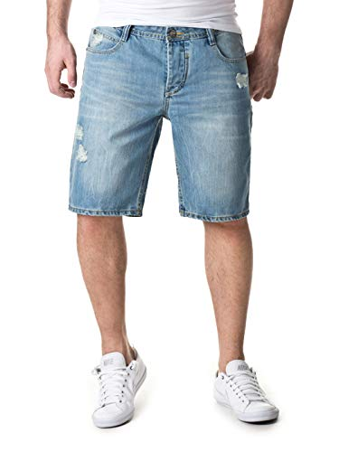 Sky Rebel Herren Shorts & Bermudas Haka Bermuda Jeans, 19200 Light Blue, W34, 19200 Light Blue, W34