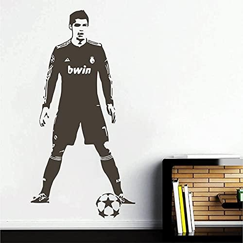 Fútbol deportes Portugal jugador de fútbol Cristiano Ronaldo CR7 vinilo pegatina de pared calcomanía niño ventiladores dormitorio sala de estar Club estudio decoración del hogar Mural