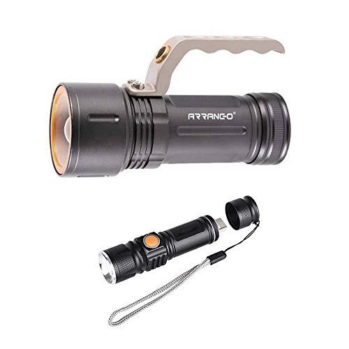 S-D SHOP - TORCIA 100000 LUMEN TATTICA/MILITARE LED T6 PIU TORICA USB 515