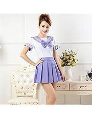 CLJ-LJ Japanse schooluniformen anime COS matrozenpakje tops + band + rok JK marine stijl Studenten kleding for Girl Cheerleader kleding
