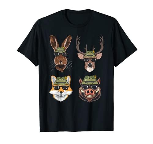Jäger Jagd Wald Geschenk T-Shirt