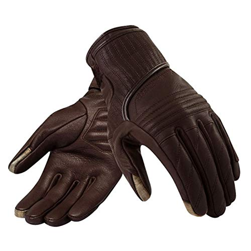 YIKXCF Guantes de Cuero de Carreras de Motocicletas Off-Road Motorcycle Racing Guantes de Cuero Protector (Color : Brown, Size : XX-Large)