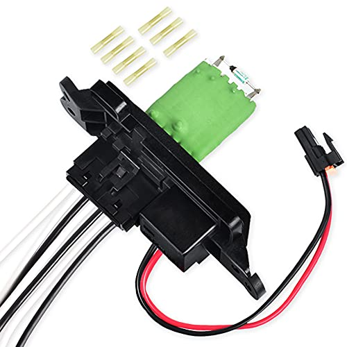 FAERSI 89019088 HVAC Blower Motor Resistor Kit with Harness Compatible with 2003-2006 Chevy Silverado Tahoe Avalanche Suburban GMC Sierra Yukon Cadillac Escalade Replaces# 973-405, 15-81086, 22807123