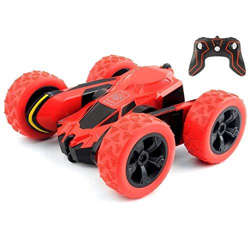 Top Race Uk01 - Giocattolo radiocomandato a 360°, con Funzione di Rotazione e Rotazione, per Bambini, Adulti e Bambini, dai 3 Anni in su, Colore: Rosso