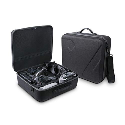 Akin Maleta rígida impermeable para DJI FPV Drone gafas y accesorios de control remoto bolsa de hombro a prueba de golpes bolsa de viaje portátil para FPV Drone (solo caso)