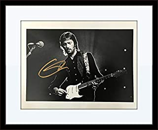 Framed Eric Clapton Photo Autograph with Certificate of Authenticity