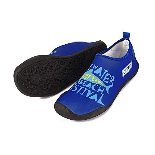 Buceo Zapatos de Agua,Secado Rápido Zapatos,Zapatos de Snorkel Buceo Zapatos de Playa de Secado rápido para Exteriores Camuflaje-Azul_39 / 40