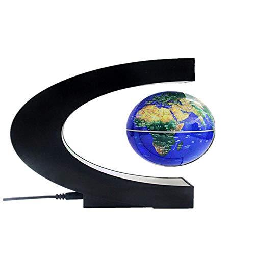 Whinop 3.5' Globus Rotierend mit LED Lampe,Blau Weltkugel Schwebend für Männer & Kinder, Premium Schreibtischdekoration Im Büro