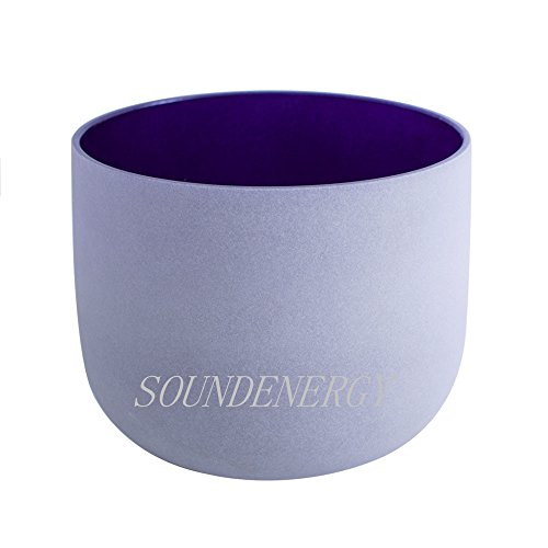 Frosted A Note Third Eye Chakra Indigo Quartz Crystal Singing Bowl 8 inch mallet and o-ring included