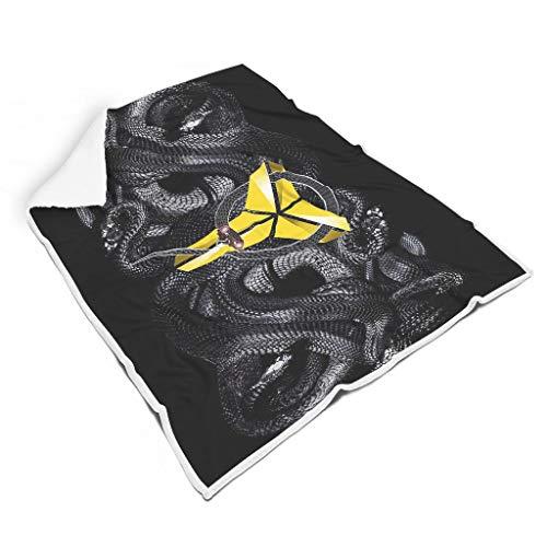 Zhenxinganghu kobe-logo en zwarte slang, zachte deken voor kamer, herfst, winter, lente, voor baby of volwassenen, familiestijl