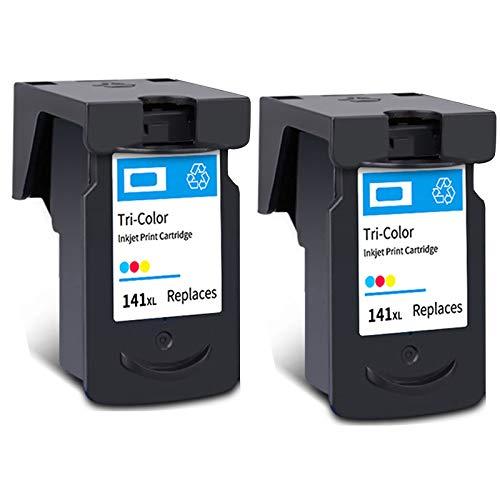 Cartucho de tinta PG-140XL CL-141XL, repuesto de alto rendimiento para impresora Canon Pixma MG 2110 2210 3110 3610 4110 MX 371 391 431 TS5110 negro y tricolor 2 tricolor