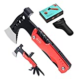 Gifts for Dad from Daughter Son Unique Birthday Anniversary Gifts for Men Father Husband Boyfriend Stocking Stuffers for Men Cool Gadgets 12 in Hatchet Hammer Multitool with Safety Lock