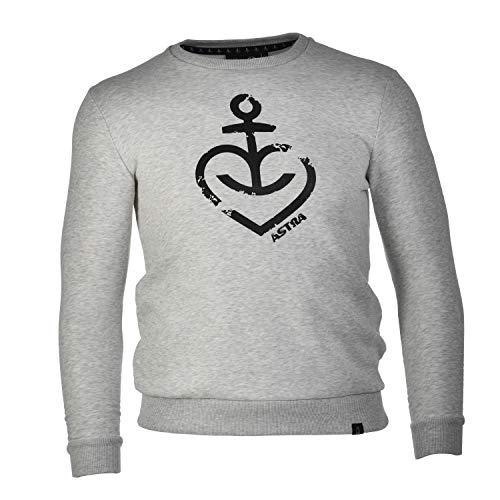 ASTRA Sweatshirt-Pullover, anthrazit-meliert, mit Aufdruck, für Damen & Herren, dunkelgrauer Sweater aus St.Pauli (S)