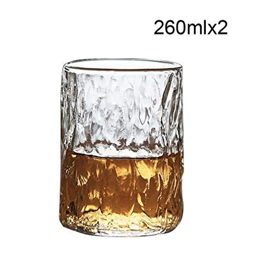 KUYUC Bierglazen bierglas, kristallen glas bierkrokken bierglas bierpul bierglazen voor hotelrestaurant & bar cadeau-idee Set of 2 260 ml.