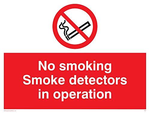 Viking Signs PS7-A1L-AC'No Smoking Smoke Detectors In Operation' Sign,...
