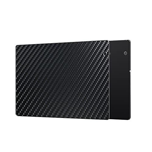 VacFun 2 Piezas Protector de pantalla Posterior, compatible con Sony Xperia Z4 Tablet SO-05G au SOT31, Película de Trasera de Fibra de carbono negra Skin Piel
