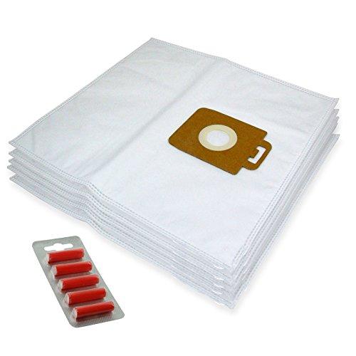 Spares2go Lot de 5 sacs en microfibre pour aspirateur Nilfisk Power P10 P12 P20 P40 (+ 5 désodorisants)