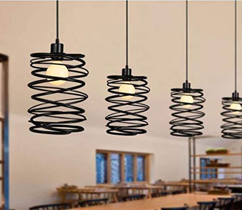 HUAXUE ZHXZHXMY Boutique Lighting - LED de la lámpara de Hierro de Primavera, Creativo Dormitorio de una Sola Cabeza Restaurante Bar Lámpara de Mesa |Candelabro