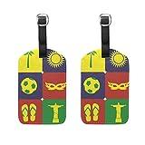 COOSUN - Etiquetas de viaje para equipaje de playa y fútbol, 2 unidades