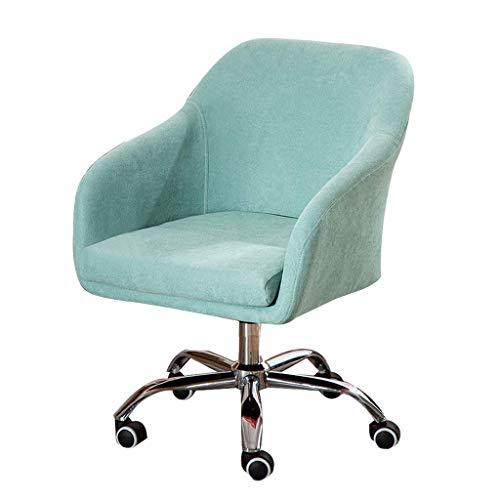 WSDSX Silla Gaming Barata,Silla ergonómica para Oficina en casa, tapizada, giratoria, para tareas, Silla Ajustable con Ruedas, Silla de Escritorio Moderna para Estudio, Azul