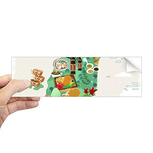 DIYthinker Taiwan Foods Kaart China Honing Koffie Rechthoek Bumper Sticker Notebook Window Decal