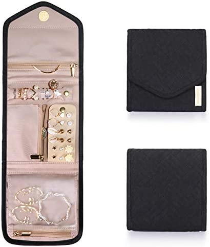 BAGSMART Travel Jewelry Organizer Case Foldable Jewelry Roll for Journey Rings Necklaces Earrings product image