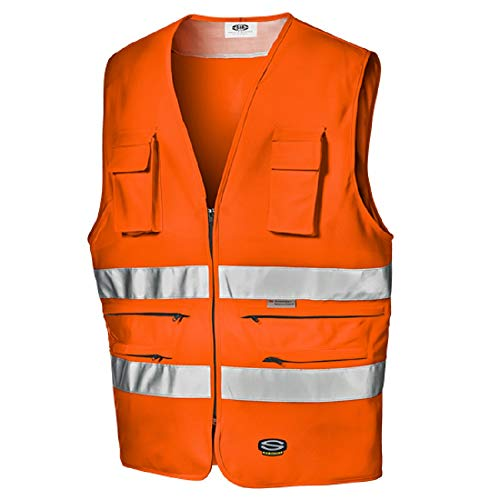 Sir Safety Gilet Multitasche Alta visibilità Arancio (L)