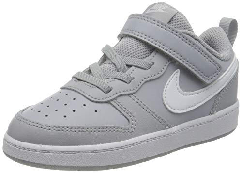 Nike Court Borough Low 2 (TDV) Sneaker, Wolf Grey/White, 27 EU