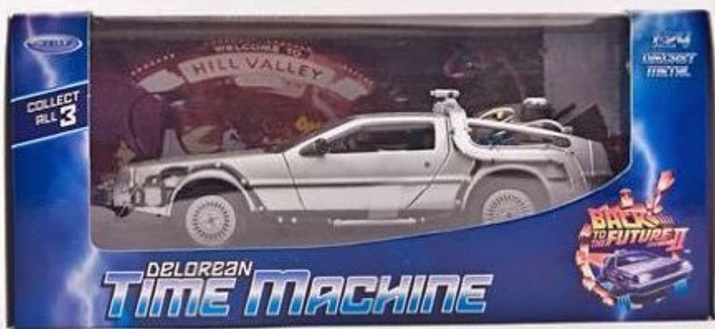 De Lorean Dmc Delorean Back To Future ii 2 Teil Zurück in Die Zukunft 1 24 Welly Modellauto Modell Auto