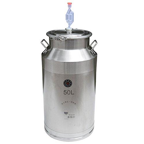 Depósito de acero inoxidable fermenter balliihoo Homebrew vino cerveza almacenamiento Pot fermentación...