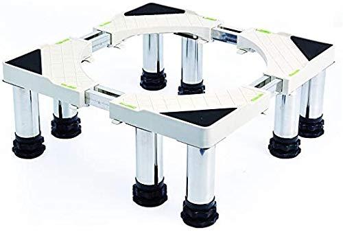 Base de soporte de la lavadora, longitud / ancho 48-69cm Stente de muebles telescópicos para el piso desigual Estante de servicio pesado para refrigerador Secador anti-óxido amortiguador frigorífico c