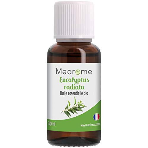 Huile Essentielle d'EUCALYPTUS RADIE BIO - Eucalyptus Radiata - Distillée en FRANCE - Mearome - 30 ml - 100% Pure et Naturelle, HEBBD, HECT