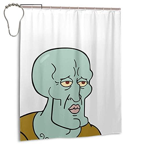 CANMA Hübsche Thaddäus Meme Duschvorhänge Wasserdichter Badezimmer Duschvorhang Set mit Haken Hochleistungs-Stoff Bad Vorhang