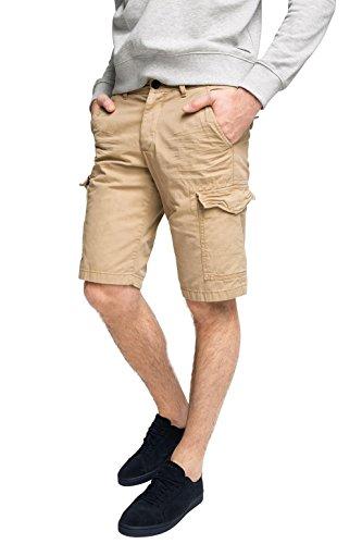 edc by ESPRIT Herren 996CC2C901-im Cargo Stil Shorts, Braun (Camel 230), 48 (Herstellergröße: 31)