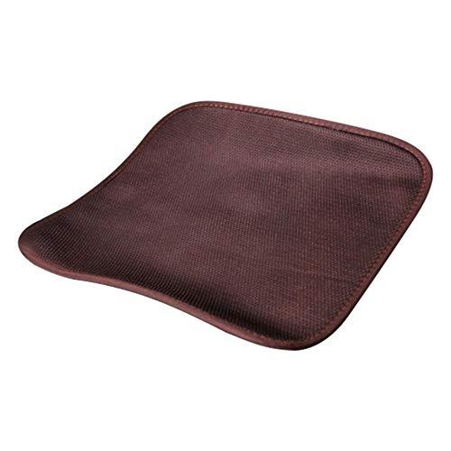 Universele autostoelverwarming 12 V, anti-slip USB-elektrische stoelverwarming, styling winterkussen, auto-bedekking, verwarmt de auto bruin