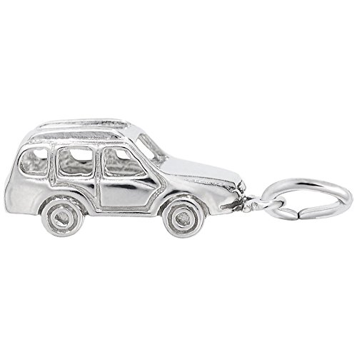 SUV Charm in Sterling Silver, Charms for Bracelets and Necklaces