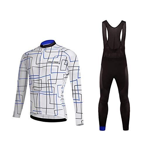 Uglyfrog Completo Abbigliamento Ciclismo, Tuta Uomo Ciclismo Salopette Sportivo + Manica Lunga per Bicicletta Body