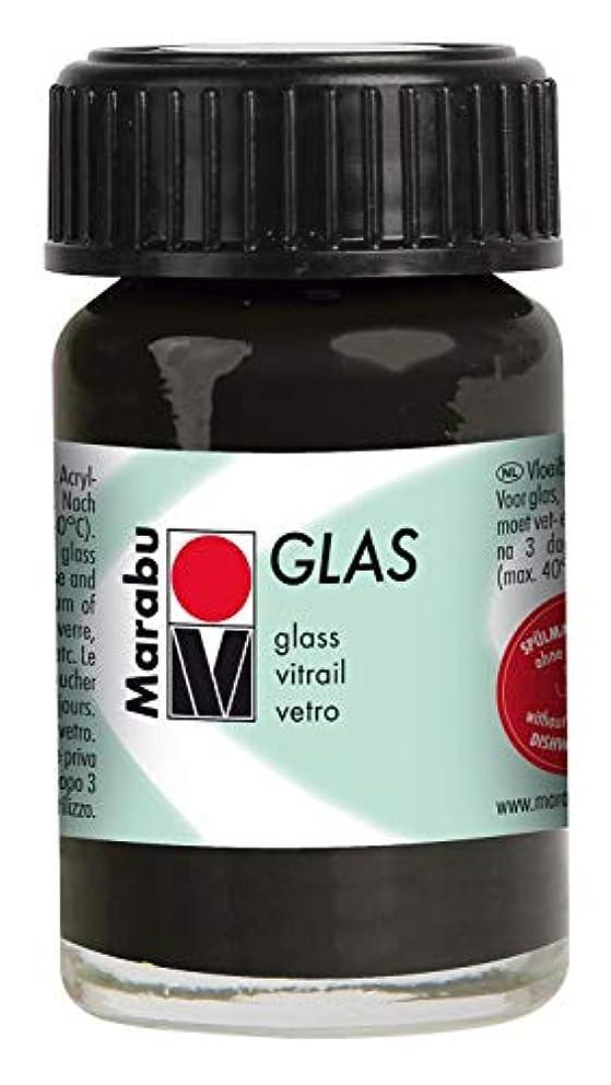 Marabu 073 15ml Glas Paint, Black