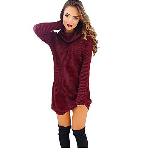 Alikeey Dames Casual lange mouwen pullover rolkraag pullover mantel blouse tumblr esprit sweatshirt