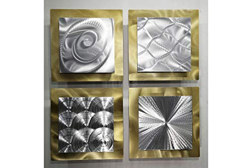 Statements2000 Gold Silver Metal Hanging Wall Art Decor,...
