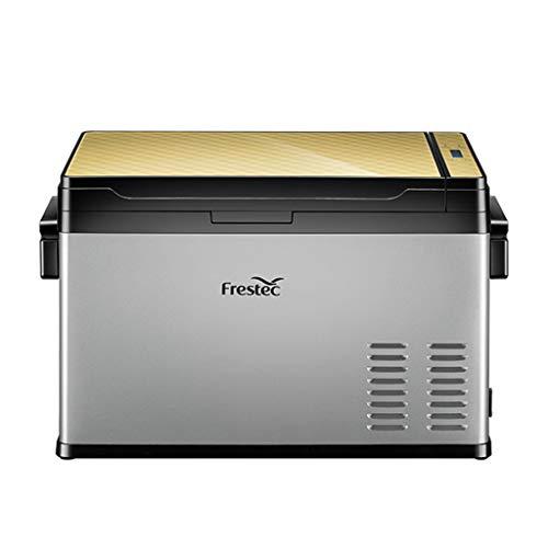 30 Litri Frigorifero Portatile Congelatore Uso Auto Frigorifero Frigo per Uso Domestico con Compressore, Dual Zone, Display LCD, -25 ° C ~ 30 ° C, 12V   24V   110V ~ 240V