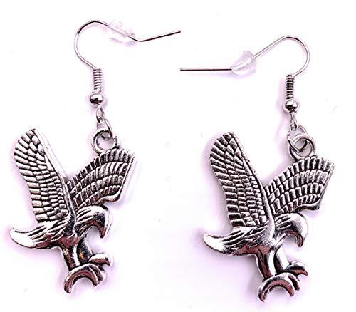 H-Customs Adler Eule Vogel Greif Ohrringe Ohrringe Ohrringe Ohrschmuck Anhänger Silber Metall
