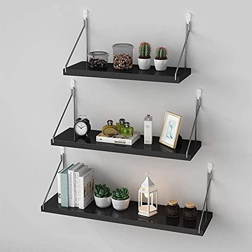 DGDF Estante para colgar en la pared, estante de exhibición, estante decorativo del hogar, utilizado en sala de estar, oficina, dormitorio, baño, cocina