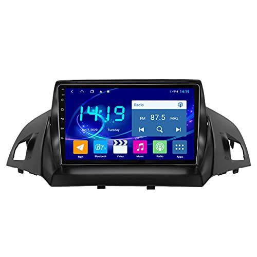 Navegacion GPS, Android 10 para Ford KUGA 2013-2017, reproductor multimedia para coche DSP CARPLAY 4G + 64G Radio para coche, reproducción de vídeo 1080P, control original del volante