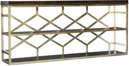 Hooker Furniture Melange Giles Console Table in Dark Wood