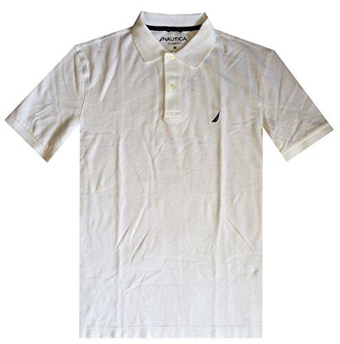 Nautica Men Classic Fit Polo Pique T-Shirt (XL, White)
