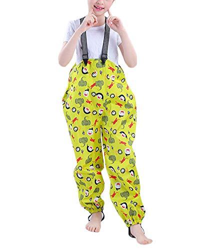 Niño Y Niña Traje Impermeable con Capucha Ropa De Lluvia De Una Pieza con Líneas Reflectantes Impermeable Pantalones Chubasquero Amarillo S