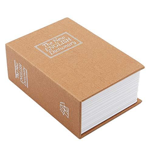 Lindos bancos de dinero de alcancía Diccionario creativa libro hucha con dinero efectivo bloqueo seguro de la cerradura secreto escondido seguridad de almacenamiento Caja fuerte Caja de dinero de Coin